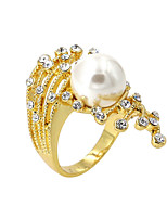 Alloy / Imitation Pearl / Zircon Ring Band Rings Party / Daily / Casual 1pc