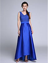 TS Couture®Formal Evening Dress Sheath / Column V-neck Asymmetrical Lace / Taffeta with Sash / Ribbon