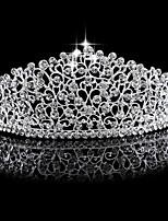 여성 라인석 / 합금 투구-웨딩 왕관 1개 실버 둥근 15