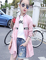 Girl's Casual/Daily Solid Suit & Blazer,Nylon Summer Pink / White