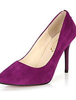 Women's Shoes Fleece Summer Heels Heels Casual Stiletto Heel Others Black / Blue / Purple / Burgundy