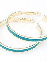 European Style Colorful Acrylic Hoop Earrings Gold Plated Party for Women Earrings Fashion