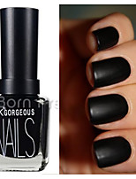 15 ml Matte Black Color Dull  Nail Polish Nail Art Nail Decorations