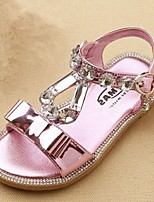 Girls' Shoes Casual   Sandals Summer Comfort / Open Toe Flat Heel Sequin Pink / Silver / Gold