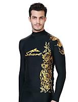 SBART Men's Diving Suits Diving Suit Compression Wetsuits 1.5 to 1.9 mm Gold M / L / XL / XXL / XXXL / XXXXL Diving