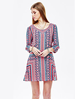 Heart Soul® Women's Round Neck 3/4 Length Sleeve Knee-length Dress-11AA17290