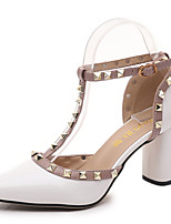Women's Sandals Summer Styles / Closed Toe PU Dress / Casual Low Heel Rivet / Others White / Gray