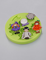 Halloween Themed Silicone Fondant Mould Festival Party Cake Decorating Tools for Chocolate Cupcake Candy Clay Making