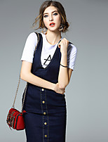Ewheat® Women's Deep V Sleeveless Above Knee Dress-H2731