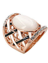 Ring Fashion Party / Daily / Casual Jewelry Alloy / Zircon / Opal Women Band Rings 1pc,8 Gold / Silver