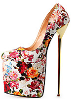Women's Shoes PU Stiletto Heel Heels / Platform Heels Party & Evening / Dress Black / Red / 1# / Nude