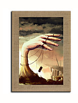 Oil Painting Modern Abstract Scenery Hand Painted Natural Linen With Stretched Frame