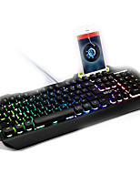 Mechanical Touch Backlights Wired USB Pro illuminated Keyboards with Mobilephone Support (Not including the phone)