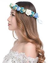 Mulheres Resina / Plástico Capacete-Casamento / Ao ar Livre Grinaldas 1 Peça MultiCor Flôr 53-55cm