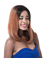 European Vogue Medium Sythetic  Blck Mix Brown Straight U Party Party Wig For Women