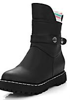 Chaussures Femme-Extérieure / Bureau & Travail / Habillé-Noir / Rose / Blanc / Beige-Plateforme-Rangers / Bout Arrondi / Bottes à la Mode