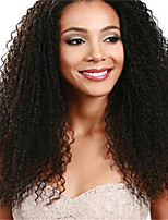 100% Unprocessed Indian Virgin Human Hair Natural Black Color Curly Lace Front Wig For Black Women