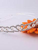 Dame / Blomsterpige Rhinsten / Krystal / Legering / Imiteret Perle Medaljon-Bryllup / Speciel Lejlighed Pandebånd 1 Stykke Sølv Rund 39cm
