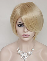 Europe And The United States Golden 10 Inch High Temperature Short Straight Hair Silk Wig
