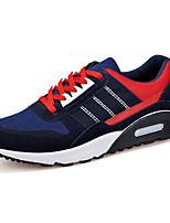 Hombre-Tacón Plano-Confort-Zapatillas de deporte-Deporte-Ante / Tul-Negro / Azul
