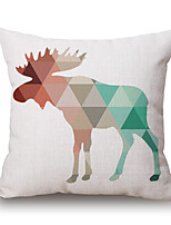 Cotton/Linen Pillow Cover,Novelty / Geometric / Animal Print / Graphic Prints Modern/Contemporary / Casual