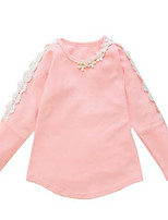 Girl's Casual/Daily Solid Tee,Cotton Spring / Fall Pink