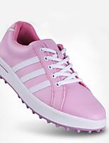 Scarpe Donna-Sneakers-Tempo libero / Casual / Sportivo-Comoda-Piatto-Di pelle / Microfibra-Rosa / Bianco