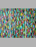 Iarts Abstract Painting Colorful Dot Impressionism Style Stretchered Ready to Hang Painting 60x30x3pcs (24x12 inchx3P)