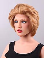 Towheaded Comfortable Short Wavy Lace Front Human Hair