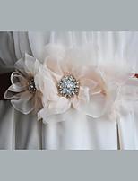 Cetim / Cetim/Tule / Chifon / Liga Casamento / Festa/Noite / Dia a Dia Faixa-Florais / Pedraria Feminino 86 ½polegadas(220cm)Florais /
