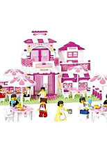 Small Luban Building Blocks Assembled Plastic Restaurant Romantic Children'S Educational Toys B0150