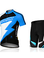 Men's Cycling suit (Jersey+shorts) Short Sleeve Breathable Quick-Drying Polyester+Polyamide+Spandex Men Cycling Jersey