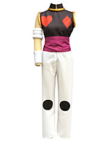 Inspired by Hunter X Hunter Hisoka Anime Cosplay Costumes Cosplay Suits Solid White Sleeveless Vest / Pants / Armlet / Bracelet / Belt