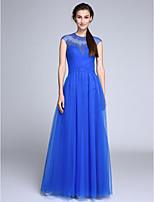 Serata formale Vestito Linea-A Con decorazione gioiello Lungo Tulle con Con applique / A incrocio