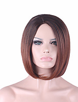 Best-selling Europe And The United States 10 Inch Wig Dark Brown Gradient BOBO