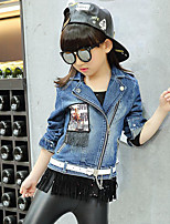 Girl's Casual/Daily Patchwork Jeans / Suit & Blazer,Rayon Spring / Fall Blue