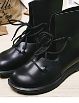 Boots Fall / Winter Combat Boots Leather Casual Low Heel Others Black