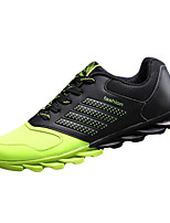 Men's Shoes PU / Tulle Casual Sneakers Casual Walking Flat Heel Others / Lace-up Blue / Green / Orange
