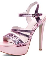 Women's Shoes Glitter / Customized Materials Heels / Peep Toe / Platform Sandals Party & Evening / Dress / Casual