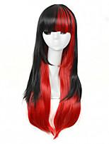 longue 1b / couleur ombre perruque synthétique de haute qualité naturelle droite rouge pour les femmes blanches