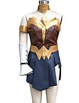 Super Heroes Female Ink Blue Cosplay Cosplay Costumes Vest / Skirt / Shorts / Headband / Armlet / Gauntlets / Belt