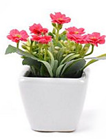 Seda / Couro Ecológico Outras Flores artificiais