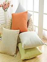 Solid Decorative Pillow Case Cotton Blend