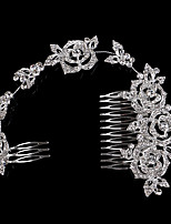 New Style Top Grade Luxury Roses Long Style Hair Comb
