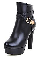 Chaussures Femme-Bureau & Travail / Décontracté / Soirée & Evénement-Noir / Rouge / Blanc-Talon Aiguille-Talons / A Plateau / Bottine /