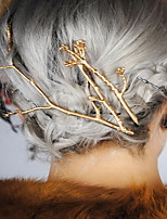 Vrouwen Licht Metaal Helm-Speciale gelegenheden / Informeel / Buiten Baret / Haarclip / Haarspeld 1 Stuk Goud Onregelmatig 6