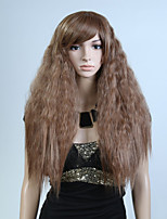 Capless Brown Color Natural Wave High Quality Synthetic Wig