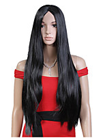 Capless Black Color Long High Quality Natural Straight Synthetic Wig