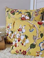 Decorative Pillow Case Cotton Floral Pattern