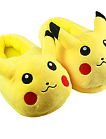 Pocket Little Monster Pika Pika With Ears Kigurumi Pajamas Warm Slippers With Collar and Heel Counter 28cm